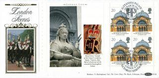 6 March 1990 London Life Full Pane 1 Benham D 136 First Day Cover London N22 Shs photo