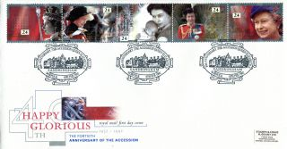 6 February 1992 Happy & Glorious 40th Access Rm First Day Cover Sandringham Shs photo