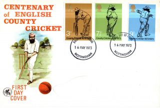 16 May 1973 County Cricket Wessex First Day Cover Nottingham Shire Ccc Fdi photo