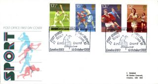 10 October 1980 Sport Centenaries Post Office First Day Cover Lords Shs photo