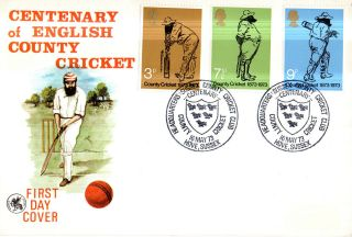 16 May 1973 County Cricket Wessex First Day Cover Hove Sussex Ccc Shs photo