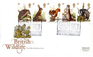 5 October 1977 British Wildlife Post Office First Day Cover Bear Steps Sct Shs photo