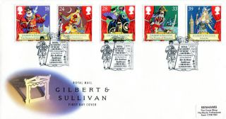 21 July 1992 Gilbert & Sullivan Royal Mail First Day Cover Royal Academy Shs photo
