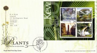 2009 Plants Uk Species In Recovery M / Sheet Royal Mail First Day Cover Shs photo