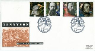 10 March 1992 Tennyson Royal Mail First Day Cover Penninsula Barracks Shs (a) photo