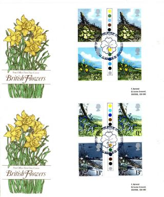 21 March 1979 Spring Flowers Traffic Light Gps 2 Po First Day Cover Bureau Shss photo