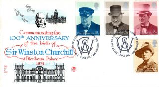 9 October 1974 Sir Winston Churchill Centenary Stuart Fdc House Of Commons Shs photo