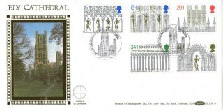 14 November 1989 Christmas Benham Blcs 47b First Day Cover Ely Cathedral Shs photo