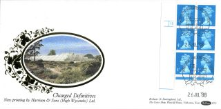 26 July 1988 4p Definitive Value Cyl Benham D73 First Day Cover Windsor Shs photo