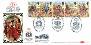 17 October 1989 Lord Mayors Show Benham Blcs 46b Carried First Day Cover Shs A photo