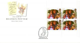 10 August 1993 Beatrix Potter Pane 1 Royal Mail Fdc Kensington London Shs (a) photo