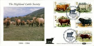 6 March 1984 British Cattle Benham Blcs (2) 25 First Day Cover Edinburgh Shs photo
