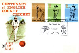 16 May 1973 County Cricket Wessex First Day Cover Yorkshire V Hampshire Shs photo