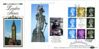 6 March 1990 London Life Full Pane 3 Benham D 136 First Day Cover London Shs photo