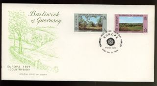 Guernsey 1977 Europa Countryside Fdc photo