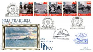 6 June 1994 D Day Benham Blcs 95b Carried Aboard Hms Fearless First Day Cover photo
