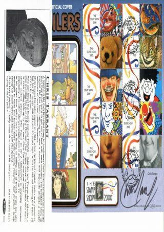 22 May 2000 Smilers Sheet Benham Blcs 182 O/s Fdc Signed By Chris Tarrant Shs photo