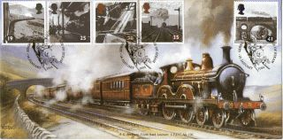 18 January 1994 Age Of Steam Bradbury Le First Day Cover Derby Shs photo