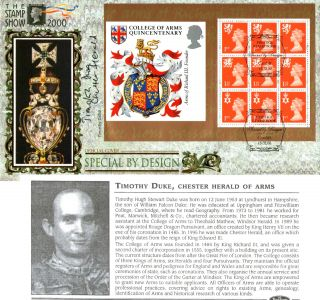 15 February 2000 Special By Design Benham Blcs 175 Fdc Signed Chester Herald photo