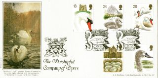 19 January 1993 Swans Bradbury Lfdc 111 Le First Day Cover Dyers Hall Shs photo