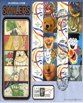 22 May 2000 Smilers Sheet Benham Blcs 182b O/s First Day Cover London Sw5 Shs photo