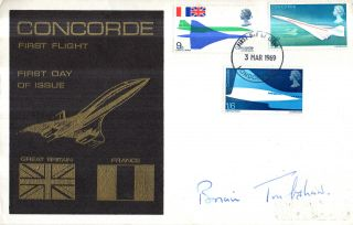 3 March 1969 Concorde Signed Brian Trubshaw First Day Cover London Fdi photo