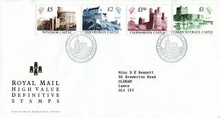 18 October 1988 All 4 High Value Definitives Royal Mail First Day Cover Windsora photo