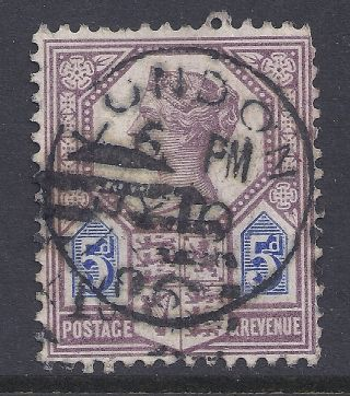 Gb Sg207a Qv 5d Dull Purple & Blue Our Ref K264 Jubilee Issue Die Ii photo