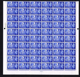Kgv1 1951 Sg514 Festival Of Britain,  Half Sheet Of 60,  Cyl 1 No Dot photo