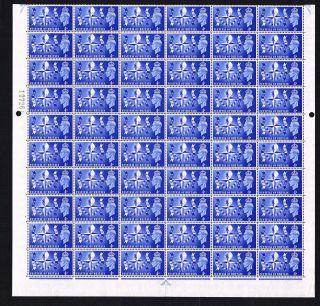 Kgv1 1951 Sg514 Festival Of Britain,  Half Sheet Of 60,  Cyl 1 No Dot photo