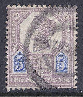 Gb Sg207a Qv 5d Dull Purple & Blue Our Ref K265 Jubilee Issue Die Ii photo