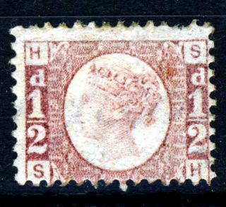 Gb Qv 1870 ½d.  Rose Bantam Plate 13 Sh Sg 48 (spec G4) photo