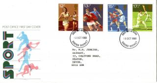 10 October 1980 Sport Centenaries Post Office First Day Cover Exeter Fdi photo