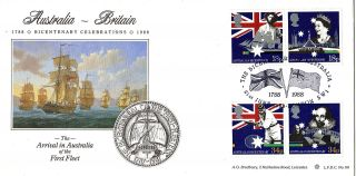 21 June 1988 Australian Bicentenary Bradbury First Day Cover London Sw1 Shs photo