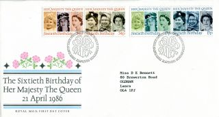 21 April 1986 Queen 60th Birthday Royal Mail First Day Cover Bureau Shs (w) photo