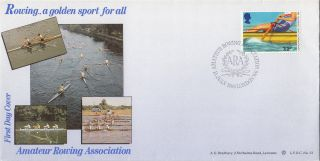 (27826) Clearance Bradbury Cover Ara Amateur Rowing Assn London W6 15 July 1986 photo