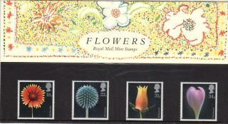Qeii Presentation Pack No 178 Flowers 1987 photo