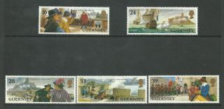 Guernsey - 1993 - Sg611 To Sg615 - Cv £ 3.  00 - Unmounted photo