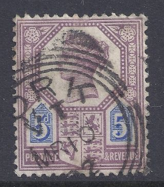 Gb Sg207a Qv 5d Dull Purple & Blue Our Ref K266 Jubilee Issue Die Ii photo