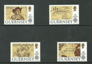 Guernsey - 1992 - Sg556 To Sg559 - Cv £ 3.  25 - Unmounted photo
