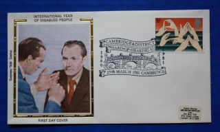 Great Britain (938) 1981 Int ' L Year Of Disabled People Colorano