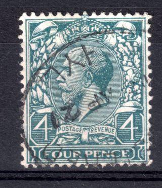 Gb = G5th (1912/24) 4d Grey Green (shades) Sg 379/80.  Fine.  (14) photo