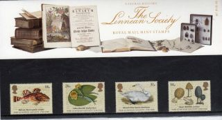 Qeii Presentation Pack No 187 Linnean Society 1988 photo