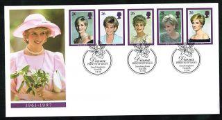 1998 Diana Fdc Sandringham Norfolk Handstamp Sent Post photo