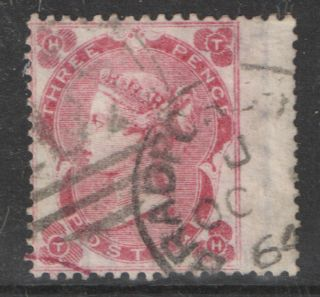 Sg76wi 3d Bright Carmine Rose Watermark Inverted Good.  Cat £1000. photo