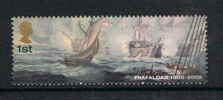 Battle Of Trafalgar Dismasted ' Belle Isle ' On 2005 British Stamp - Nh photo