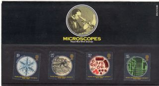 Qeii Presentation Pack No 201 Microscopes 1989 photo