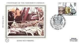 (52611) Fdc Benham Silk - Seine Net Fishing / Fishmongers Company 1981 Postmark photo