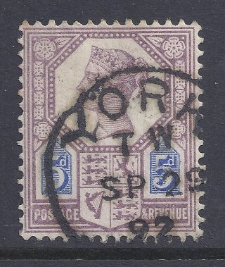 Gb Sg207a Qv 5d Dull Purple & Blue Our Ref K277 Jubilee Issue Die Ii photo
