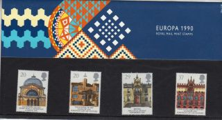 Qeii Presentation Pack No 206 Europa Buildings 1990 photo